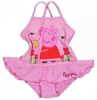 Retail! free shipping 2014 children's swimwear peppa pig baby girls one-piece swimsuit dress girls bathers beach wear