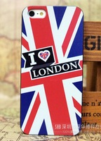 1x1pc protective shell Skin Cover Case For iphone 5S For iphong 5 I love London Free Shipping