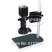 2.0MP 8X-100X HD Industry Microscope Camera Set VGA Video Output R130 C-Mount Lens Stand Holder 40 LED Light illuminator F PCB