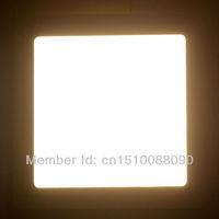 Free shipping 6W square led panel light 5pcs/lot new Ultra thin Downlight L120*W120mm AC90-250V