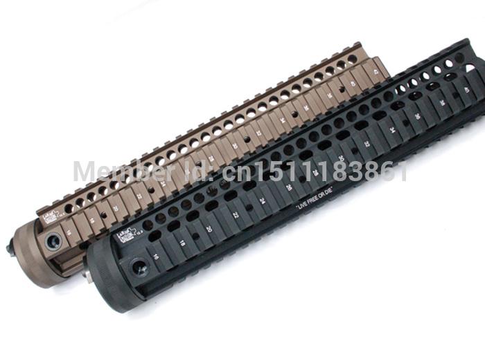LaRue 12.0 inch Hand Guard Rail System for AEG M4/M16(Black/Coyote Brown)-HongKong Post Free shipping(China (Mainland))