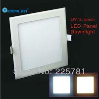 3W square led panel light Free shipping 10pcs/lot new Ultra thin Downlight L90*W90mm
