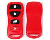 New product wholesale 3+panic buttons colour remote rubber shell, replacement car keys in Red