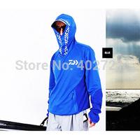 Free Shipping! 1Pc Daiwa Sun Protection Fishing clothing quick-drying athletics breathable mesh hooded