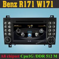 Car DVD Player radio GPS Mercedes for Benz SLK R171 SLK200 SLK280 SLK350 W171 2008-2011 + 3G WIFI INternet + 1GB cpu + DDR 512M