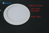 Free shipping DHL/FEDEX 5.5inch/12W Led panel light 20pcs/lot new Ultra thin design Downlight AC90-250V