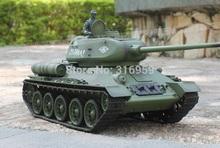 Large Retro The Soviet Union T 34 Tank 2 4G Remote Control tank Simulation Smoking Tank