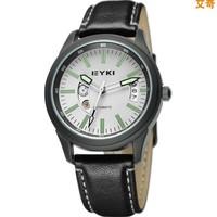 2014 EYKI new brand dress mechanical watch, leather strap Casual watches,men fashion  sports watch.
