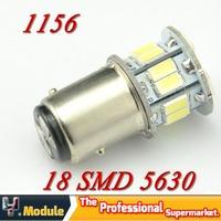 2XS25 BA15S P21W 1156 18SMD 5630 5730 Car Led Tail Reverse Back Up Light brake turn signal Lamp Bulbs 12v Bright White#YNF32