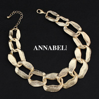 New Design Vintage Gold Chunky Chain Necklace for Women 2014 Fashion Jewelry Wholesale Choker Statement Necklaces & Pendants