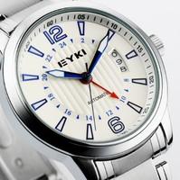 2014 EYKI new brand dress mechanical watch, full steel Casual watches,men fashion  sports watch.