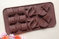 Free shipping Food Grade High-heeled Shoes Shaped Silicone Chocolate Mold /Cake Mold/Cookie Mould B033