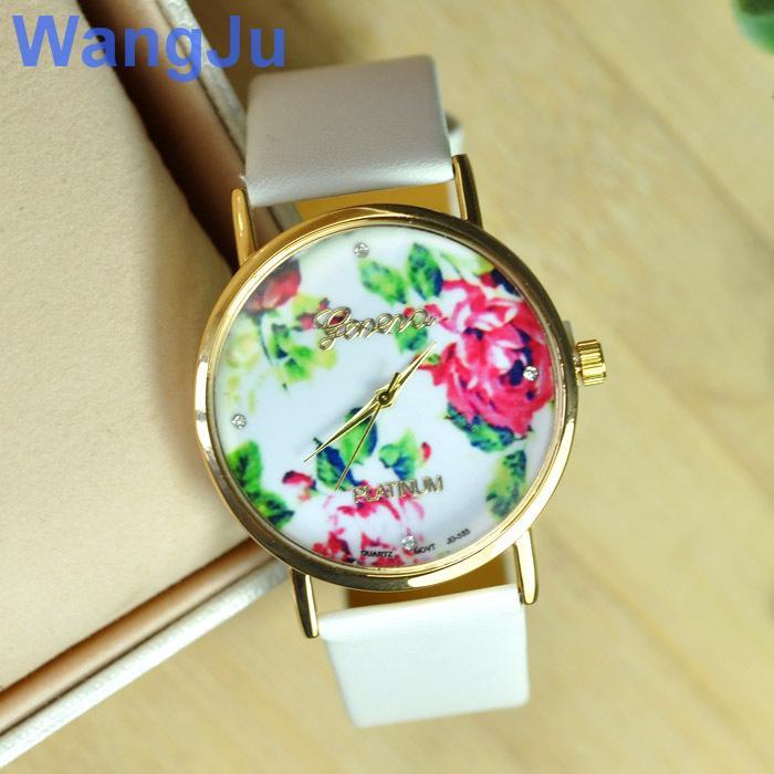 18k ginebra gold watch: