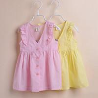 3T-10 summer baby girl kids dress fashion sleeveless dress children dresses girls princess sweet dress