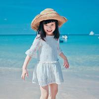 new 2014 summer Kids girls skirt , summer dress openwork lace girl dress, baby dress casual dress, winter dress