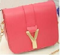 New Brand Candy Color women messenger bags lovely campus women leather handabgs cute designer handbag