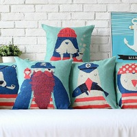 Free Shipping The Sailor Cartoon Cute Animal Cartoon Cotton Pillow Case Car Pillows 45CM*45CM Cushion cover