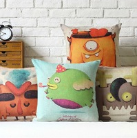 Free Shipping Restoring Ancient Ways More Creative Ikea Cute Cartoon Cotton And Linen Pillow Case 45cm*45cm Cushion cover