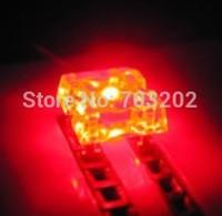 piranha led diode red 3mm super flux led 4pins