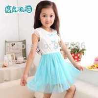2014 Children's wear princess cuhk lace girl sundress