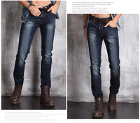 HOT! Free Shipping retail & wholesale brand jeans Newly Style Zipper Straight Cotton Men Jean trousers
