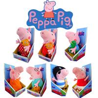 30CM hot sale Peppa George Pig Daddy Mummy Pig friends family Plush Toy Set Peppa Pig Stuffed Animals Dolls baby toys pepa