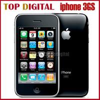 Original Phone Iphone 3GS 8GB/16GB/32GB GSM 3G WCDMA Wifi GPS Multi-Language 3.5'' Touch Unlocked Cell phone