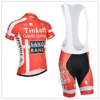 2014 Saxo bank Cycling Jersey(maillot)+Bib Short(Culotte) Or Sportswear/Made From High Quality Polyester And Lycra/Size S-5XL