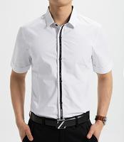2014 summer  men's  shirt Tight type cotton clothing Design: the pure color   fashion shirt M-XXXL  (DC0056)