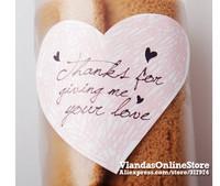 Wholesale 600Pcs Heart Shape Thank You Adhesive Sticker Gift Sticker 5.8*5.2cm , STK-173