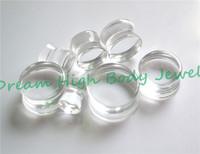 Transparent Ear Plugs Clear Flesh Tunnel Ear Expander Ear Piercing Rings Hot Sale Acrylic Popular Body Piercing