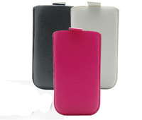 2014 New Pull Up Tab Strap Bag for nokia e52 E55 PU Lichee Leather Pouch bags Cell Phone Cases