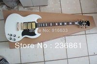 New Beautiful Musical Instruments 6 strings 3 Pickups G LP Custom sg SG 400 white Electric guitar  (free shipping)
