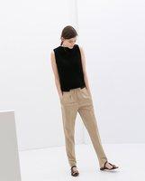 New Women Drawstring Elastic Waist Pencil Pants,Ladies Casual Loose Plus Size XL Full Length Trouser k57