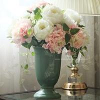 Party supplies fashion silk artificia rose flowerLarge Decorative Flowers Peony wedding decoration