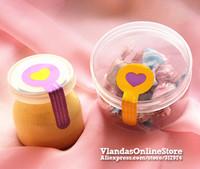 Wholesale 600Pcs Lollipop Shape with Heart Design Adhesive Sticker Gift Sticker 8.5*3cm, STK-182