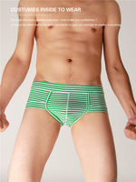 1Pcs New Men's Cotton Sexy Penis Pouch Underwear Briefs  L,XL Green Hot!