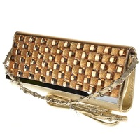Free Shipping 2014 New Arrival Women Chain Evening Bag, Lady's Fashion Leather Cultch with Diamond morer #636