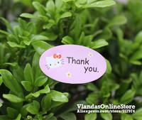 Wholesale 800Pcs Lovely Kitty Thank You Adhesive Sticker Gift Sticker 3.5*2cm , STK-176