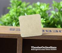 Wholesale 1000Pcs Blank Kraft Paper  Adhesive Sticker Gift Sticker 3.5*3.5cm, STK-185