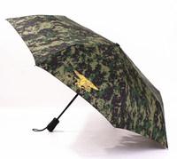 2014 free shipping men's camouflage automatic three folding umbrella creative travel umbrella Rechar014