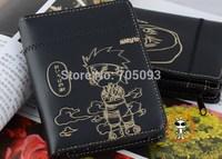 NEW ARRIVAL! Japanese anime NARUTO KAKASHI cartoon wallet leather black purse free shipping