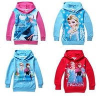 Frozen hoodies children clothing, brand autumn winter long-sleeve hoodies for children sweatshirts,color red and blue  008