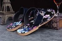 FREE SHIPPING gg metal buckle big flops Sandals & Flip Flops retro print face sandals and slippers sandals