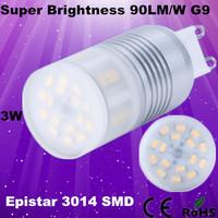 Epistar 3014 SMD Super brightness 3w g9 led 90LM/W CE&ROHS DHL Free Shipping