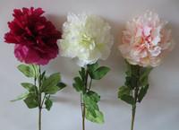 (2 pcs/lot)European 1pcs Bouquet wholesale artificial flowers Peony Silk Flowers Wedding Home Party Decoration 3Colors to Choice