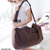 High quality fashion canvas messenger bag big large capacity travel bags Multi-functional pu leather decorative shoulder bag