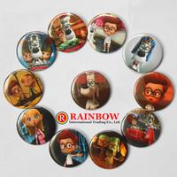 2014 New 4.5cm Mr. Peabody & Sherman pin badge button Round Cartoon tin badge Clothing Accessories Retail 48PCS Free Shipping