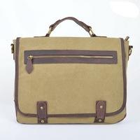 Fashion Leisure canvas handbag cowhide large capacity casual shoulder bag High Density cotton canvas totes good quality