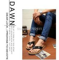 2014  shoes summer slipper  flat sandal casual shoe men flip flops shoes men's sandals wedge-heeled free shipping